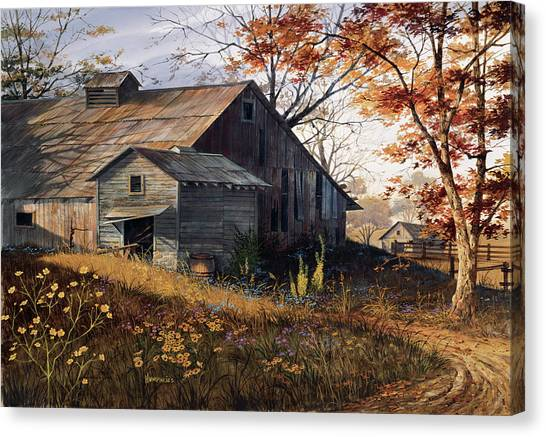 Barns Canvas Print - Warm Memories by Michael Humphries