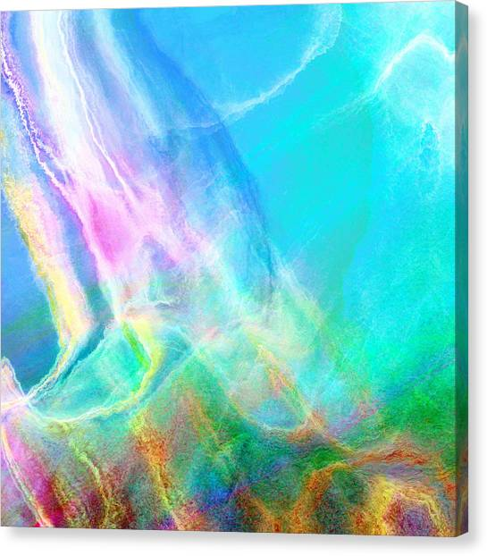 Warm Seas- Abstract Art Canvas Print