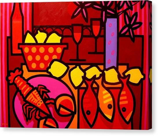 Metal Fish Canvas Print - Warm Still Life At Window by John  Nolan