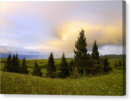 Alberta Canvas Print - Warm The Soul by Chad Dutson