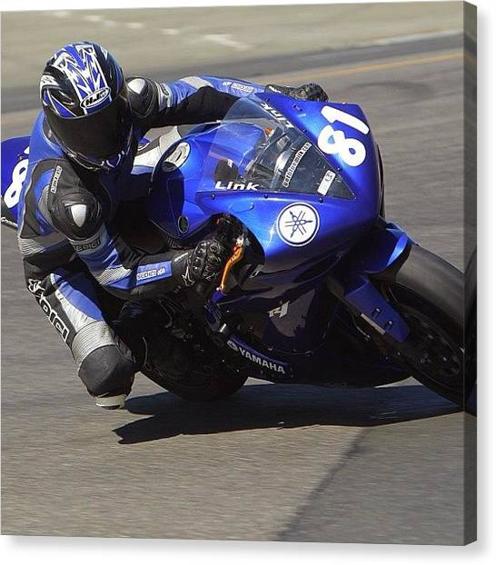 Yamaha Canvas Print - Warming Up The Tires At Sonoma (aka by Jeff Link