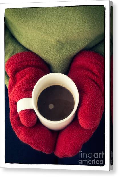 Coffee Canvas Print - Warming Up With Hot Cocoa by Edward Fielding