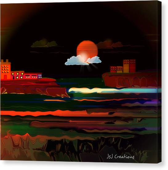 Warmth Of The Orange Canvas Print by Jan Steadman-Jackson