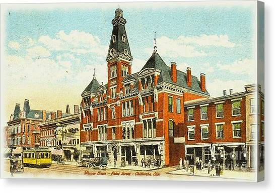 Warner House - Chillicothe Ohio Canvas Print