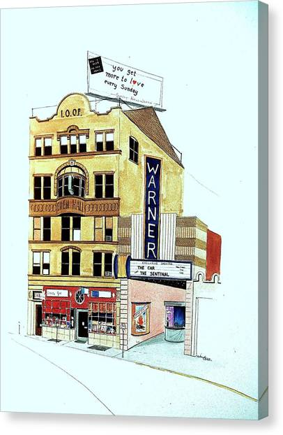 Warner Theater Canvas Print