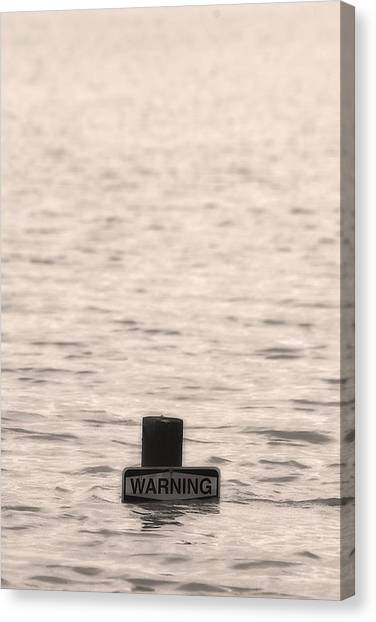 Warning Midwest Floods Canvas Print