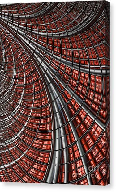 Warped Canvas Print - Warp Core by John Edwards