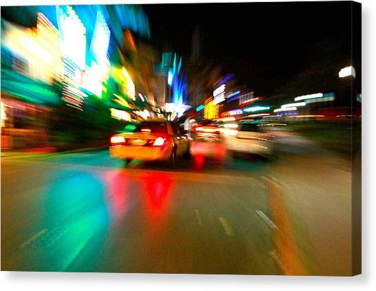 Warp Taxi Canvas Print by Gary Dunkel