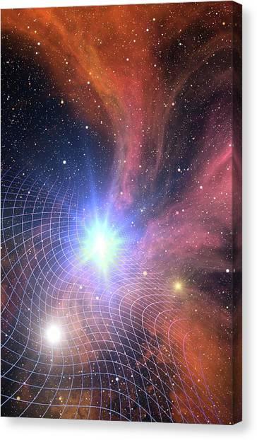 Warped Canvas Print - Warped Space Time Grid by Take 27 Ltd