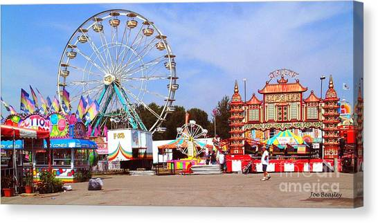 Warren County A And L Fair Midway Canvas Print by   Joe Beasley