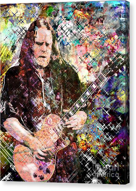 Slide Guitars Canvas Print - Warren Haynes Govt Mule Original Painting Art Print by Ryan Rock Artist
