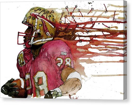 Running Backs Canvas Print - Warrick's Seminoles by Michael  Pattison