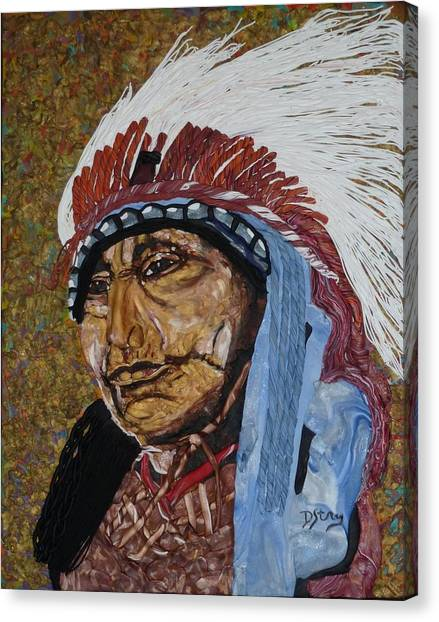 Warrior Chief Canvas Print
