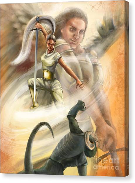 Prophetic Art Canvas Print - Warrior by Tamer and Cindy Elsharouni