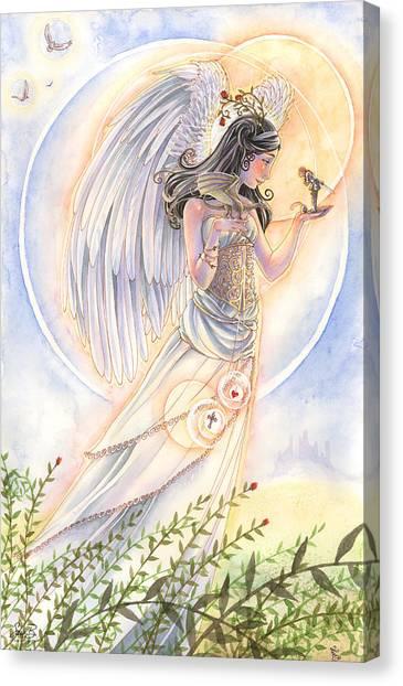 Host Canvas Print - Warrior's Angel by Sara Burrier