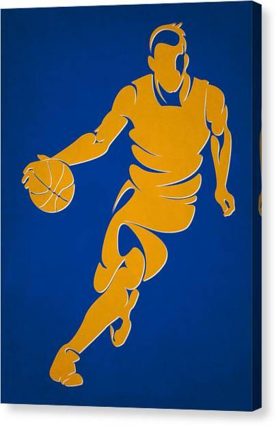 Golden State Warriors Canvas Print - Warriors Basketball Player1 by Joe Hamilton