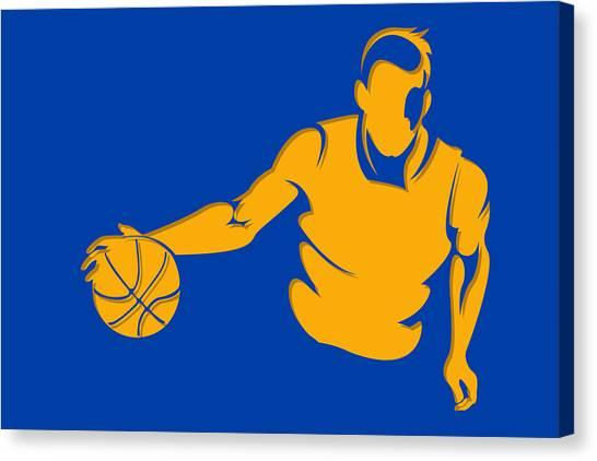 Golden State Warriors Canvas Print - Warriors Basketball Player2 by Joe Hamilton