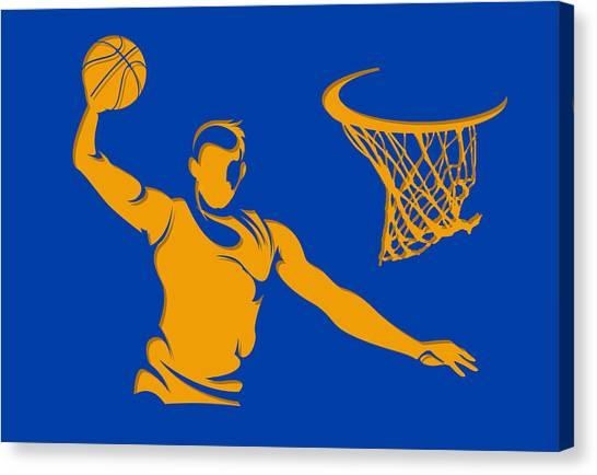 Golden State Warriors Canvas Print - Warriors Basketball Player3 by Joe Hamilton