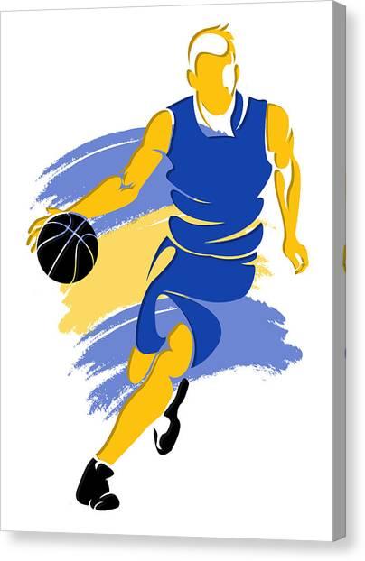Golden State Warriors Canvas Print - Warriors Basketball Player5 by Joe Hamilton