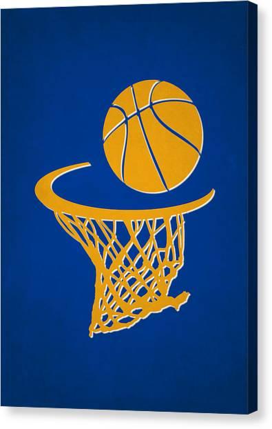 Golden State Warriors Canvas Print - Warriors Team Hoop2 by Joe Hamilton