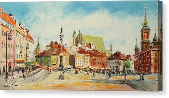 Warsaw- Castle Square Canvas Print
