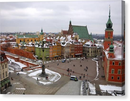 Warsaw Zamkowy Square Canvas Print
