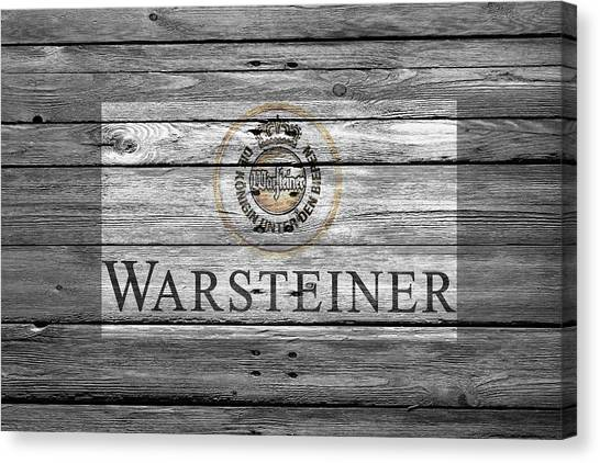 Beer Can Canvas Print - Warsteiner by Joe Hamilton