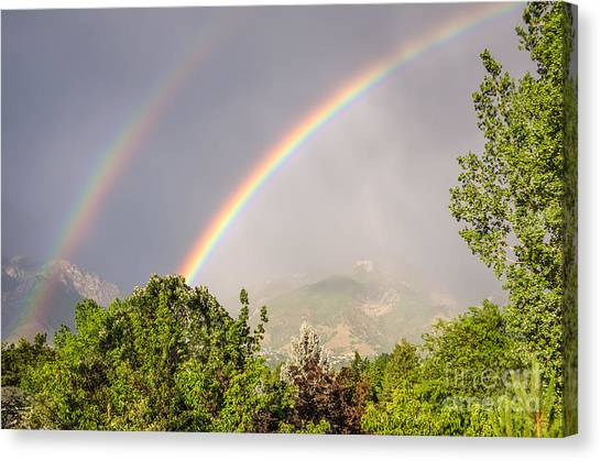 Wasatch Rainbow Canvas Print