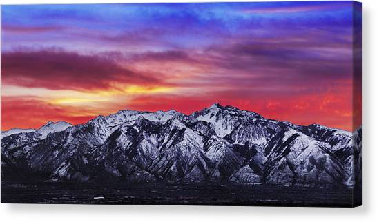 Mountain Sunrises Canvas Print - Wasatch Sunrise 2x1 by Chad Dutson