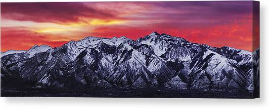 Uinta Canvas Print - Wasatch Sunrise 3x1 by Chad Dutson