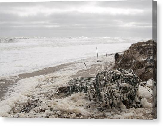 Wash A Shore From Storm Saturn  Canvas Print by Eugene Bergeron