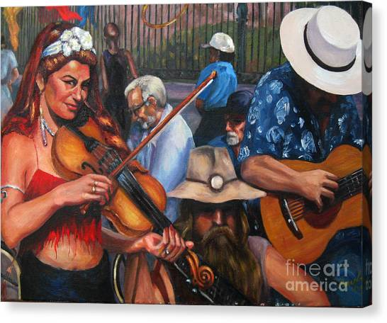 Washboard Lissa On Fiddle Canvas Print