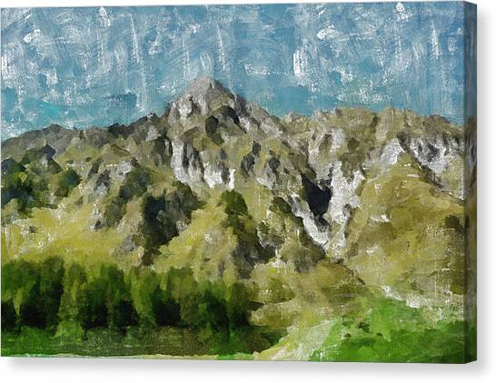 Mountains Canvas Print - Washed Out by Inspirowl Design