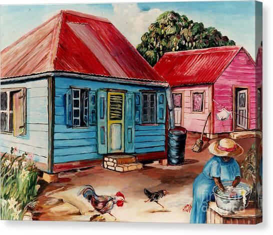 Mango Tree Canvas Print - Washing 02 by Rosine Smith