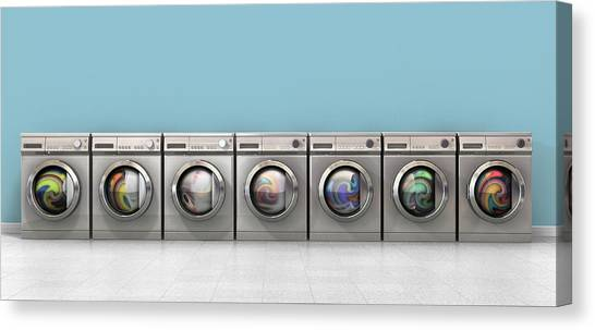 Washing Machine Full Single Canvas Print by Allan Swart