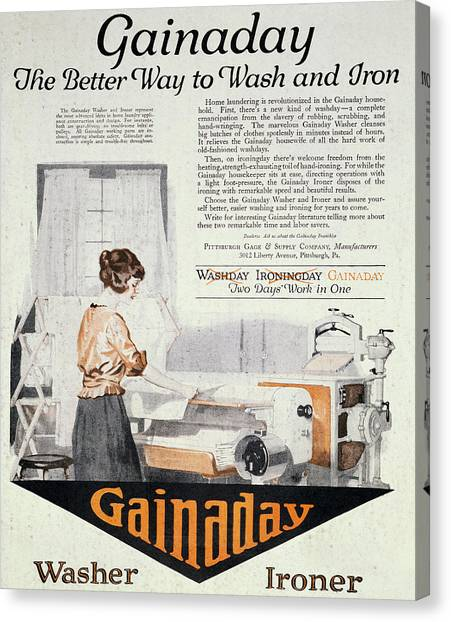 Vintage Washing Machine Canvas Print