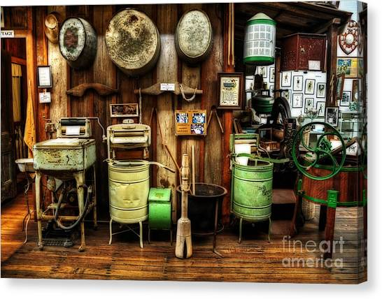 Washing Machines Of Yesteryear Canvas Print