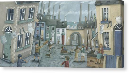 Crickets Canvas Print - Washing Out And Playing Out by Peter Adderley