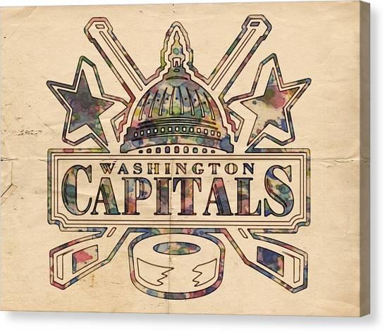 Washington Capitals Canvas Print - Washington Capitals Hockey Poster by Florian Rodarte