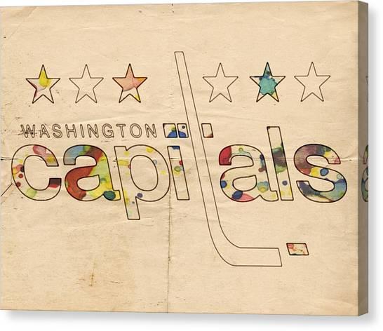 Washington Capitals Canvas Print - Washington Capitals Logo Art by Florian Rodarte