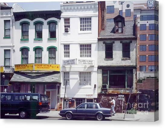 Washington Chinatown In The 1980s Canvas Print