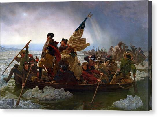 The Metropolitan Museum Of Art Canvas Print - Washington Crossing The Deleware by Emanuel Leutze