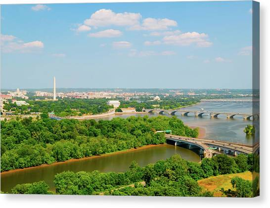 Washington Nationals Canvas Print - Washington D.c. Aerial View by Panoramic Images