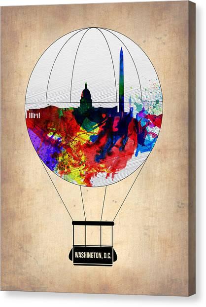 Washington D.c Canvas Print - Washington D.c. Air Balloon by Naxart Studio