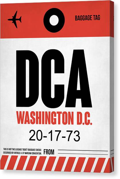 Washington Capitals Canvas Print - Washington D.c. Airport Poster 1 by Naxart Studio