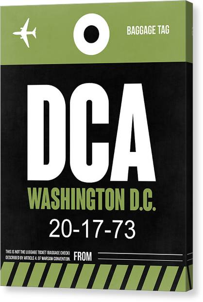 Washington D.c Canvas Print - Washington D.c. Airport Poster 2 by Naxart Studio