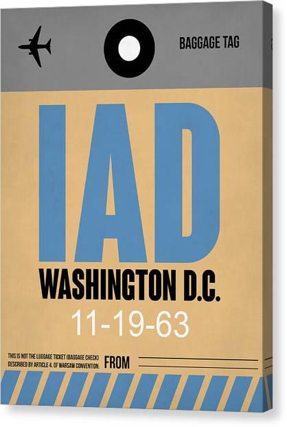 Washington Capitals Canvas Print - Washington D.c. Airport Poster 3 by Naxart Studio