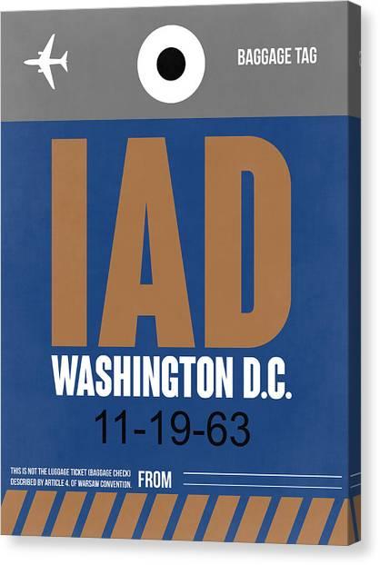 Washington Capitals Canvas Print - Washington D.c. Airport Poster 4 by Naxart Studio