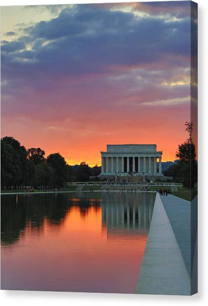 Washington Dc Night Canvas Print by Jack Nevitt