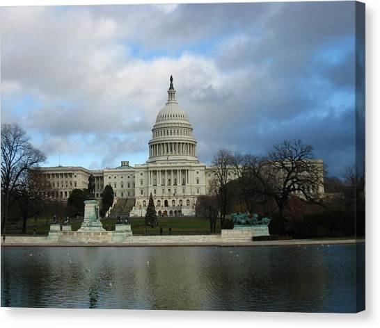 Washington Dc - Us Capitol - 12122 Canvas Print